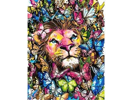 Król kolorowych motyli malowanie po numerach