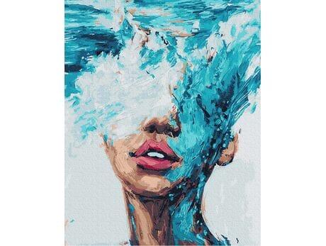 Cicha woda brzegi rwie malowanie po numerach
