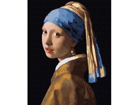 Jan Vermeer. Dziewczyna z perłą malowanie po numerach