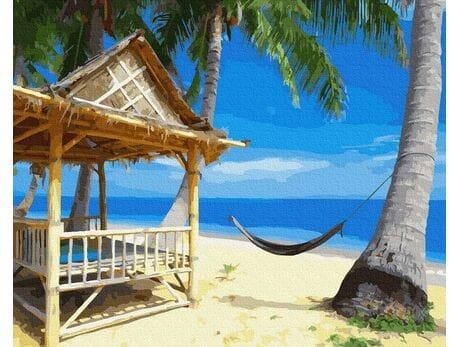Wymarzone wakacje na wyspie malowanie po numerach