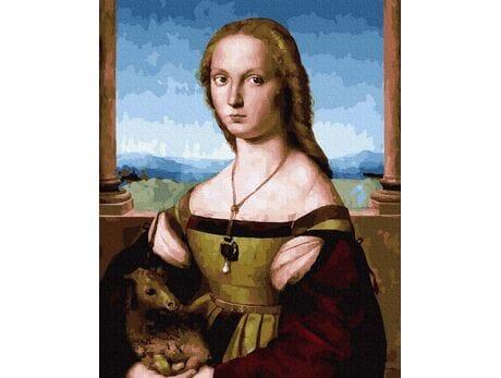 Raphael Santi. Dama z jednorożcem malowanie po numerach