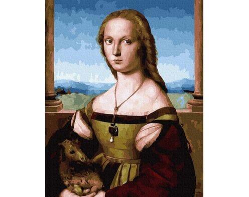 Raphael Santi. Dama z jednorożcem