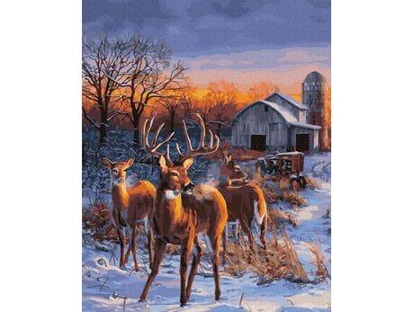 Rykowisko jeleni malowanie po numerach