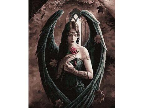 Mroczny Anioł malowanie po numerach