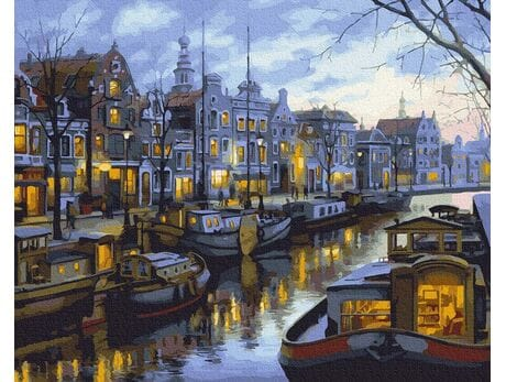 Kanały Amsterdamu malowanie po numerach