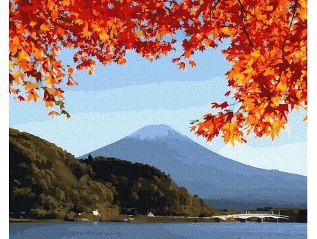 Fudżi  jesienią malowanie po numerach