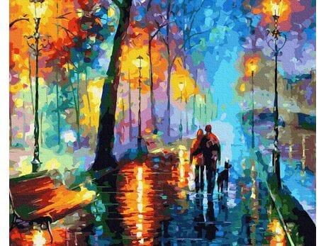 Spacer po deszczu malowanie po numerach