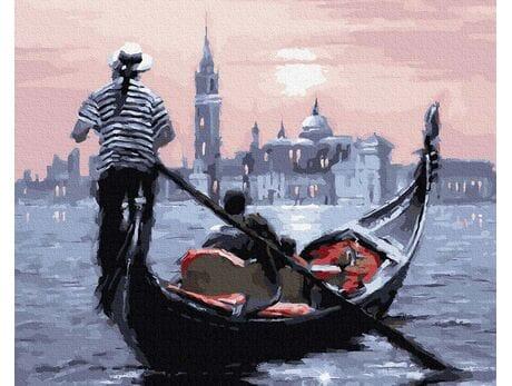 Zachód słońca nad Wenecją malowanie po numerach