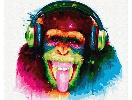 Prawdziwy koneser  muzyki. malowanie po numerach