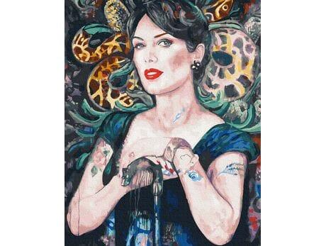 Kobieta-wąż malowanie po numerach