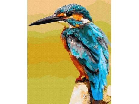 ZIMORODEK - król rybaków malowanie po numerach