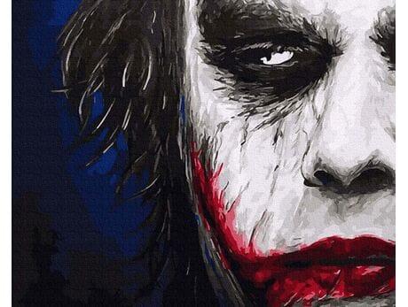 Joker. Złowieszczy uśmiech malowanie po numerach