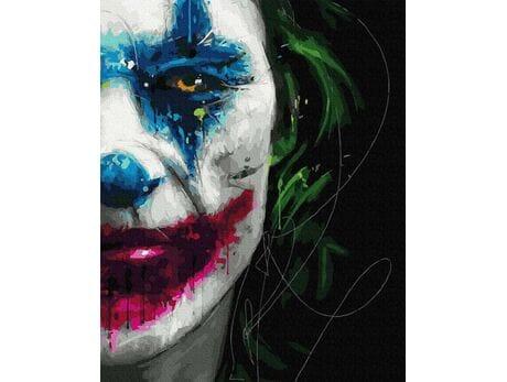 Uśmiech Jokera malowanie po numerach