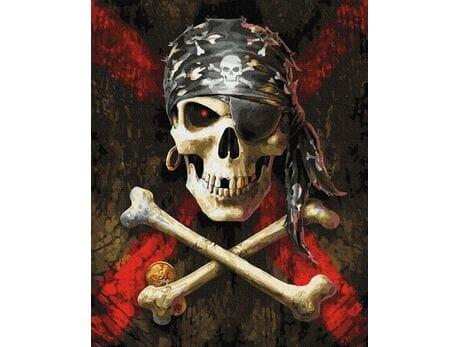 Symbole piratów malowanie po numerach