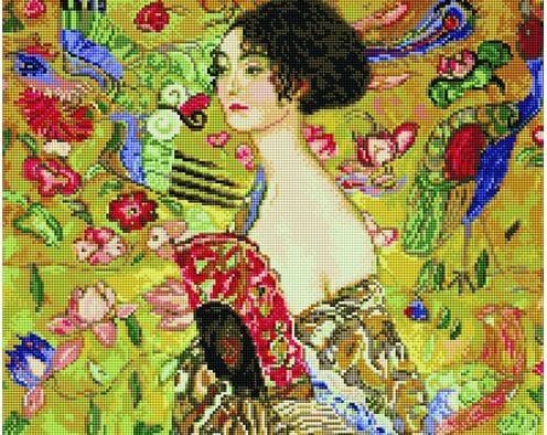Gustav Klimt. Dama z Wachlarzem