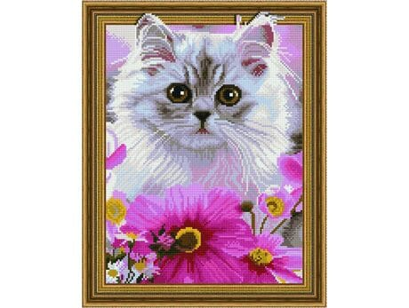 Słodki kociak diamentowa mozaika