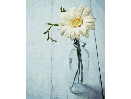 Kwiatek w dzbanku malowanie po numerach