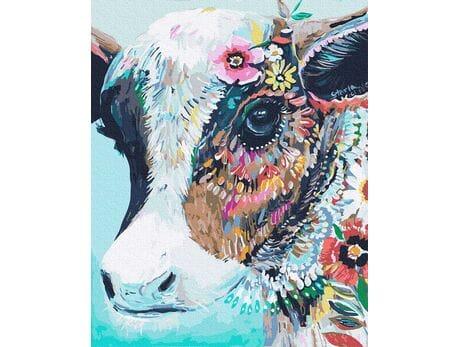 Krowa kolorowa malowanie po numerach