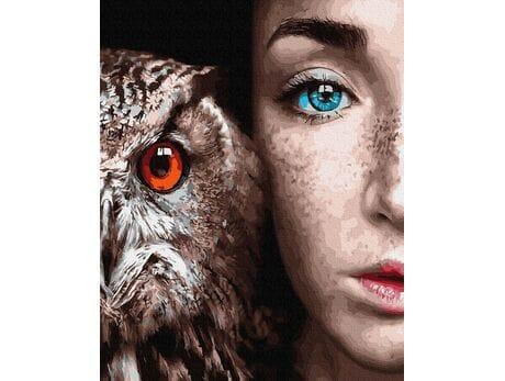 Spojrzenie pięknych oczu malowanie po numerach