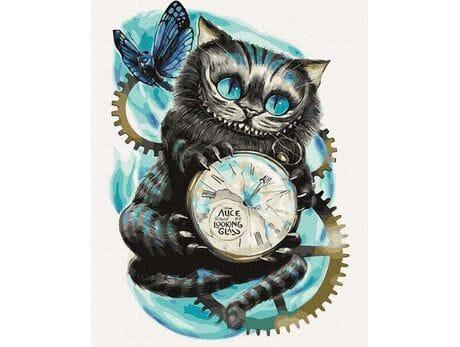 Kot z Cheshire malowanie po numerach