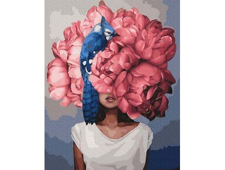 Charming Woman Flower Head malowanie po numerach