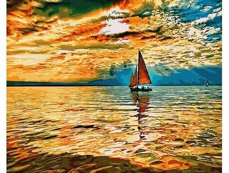 Niebo w Ogniu słońca malowanie po numerach