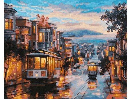 Uliczki San Francisco malowanie po numerach