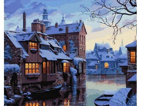 Zimowy wieczór w Brugii malowanie po numerach