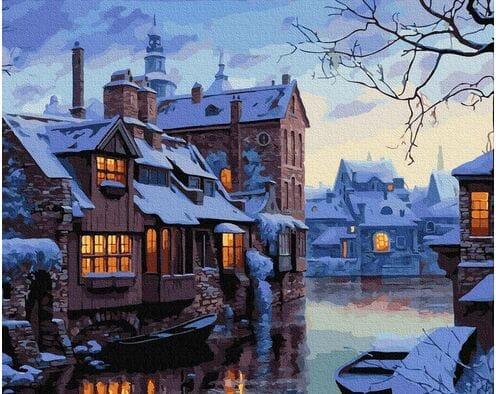 Zimowy wieczór w Brugii