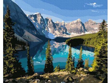 Piękno górskiego jeziora malowanie po numerach