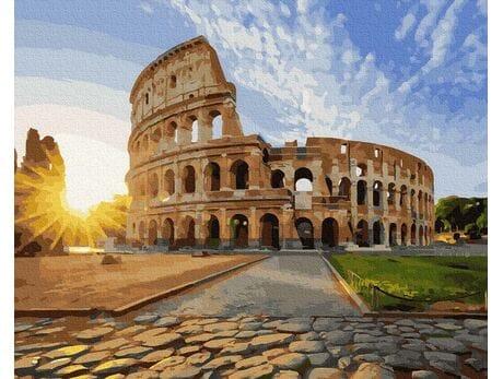 Koloseum w słońcu malowanie po numerach