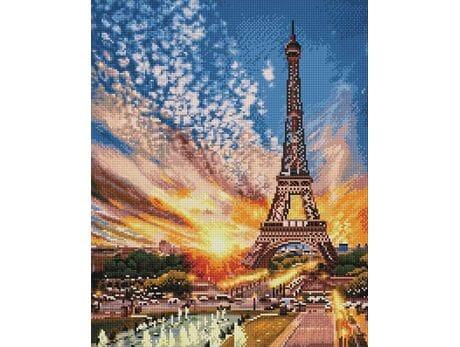 Zachód słońca nad Paryżem diamentowa mozaika