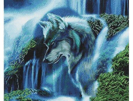 Wilk Wodospad diamentowa mozaika