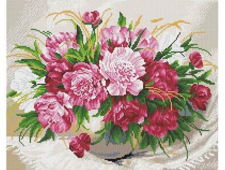 Delikatne kwiaty diamentowa mozaika