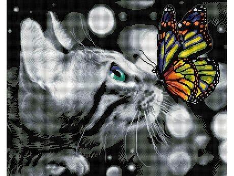 Kotek i motyl diamentowa mozaika