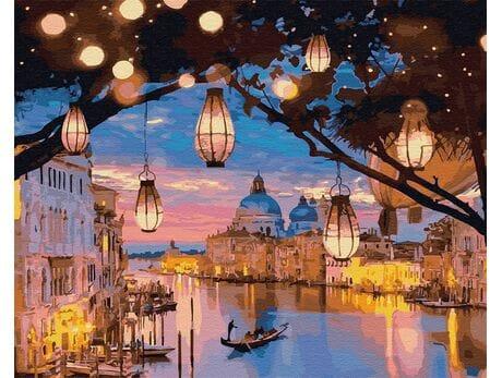 Lampki nocne Wenecji malowanie po numerach