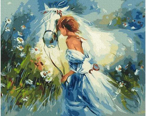 Piękna dziewczyna z koniem