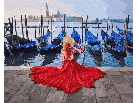 Na molo w Wenecji malowanie po numerach