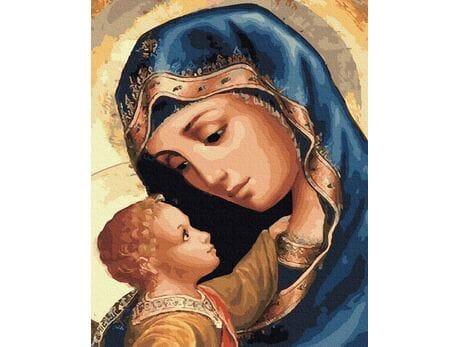 Dziewica Maryja i Jezus malowanie po numerach