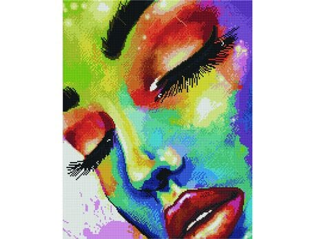 Dziewczyna w kolorach diamentowa mozaika