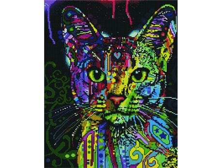 Spojrzenie kota diamentowa mozaika