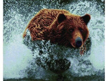 Biegnący niedźwiedź diamentowa mozaika