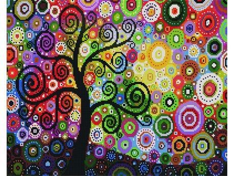 Drzewo pieniędzy diamentowa mozaika