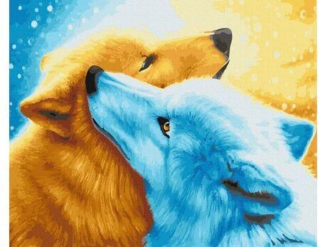 Para wilków malowanie po numerach