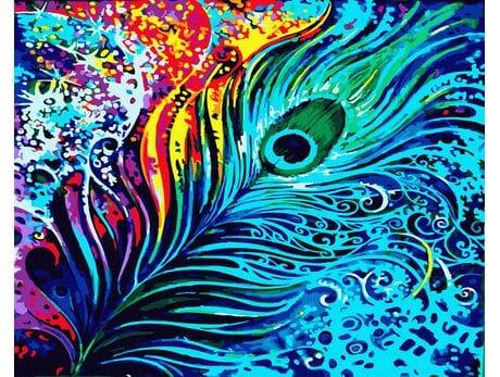 Pawie oko malowanie po numerach