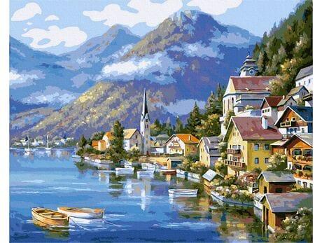 Hallstatt. Austria malowanie po numerach