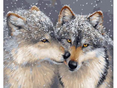 Miłość pośród wilków malowanie po numerach