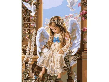 Mały Aniołek malowanie po numerach