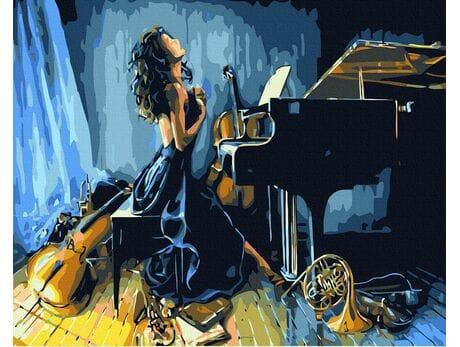 Energia muzyki malowanie po numerach