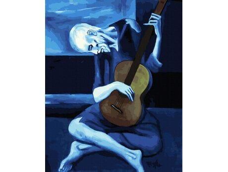 Stary gitarzysta (Pablo Picasso) malowanie po numerach